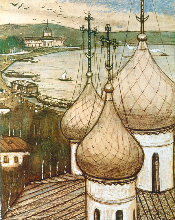On the Volga. Cupolas