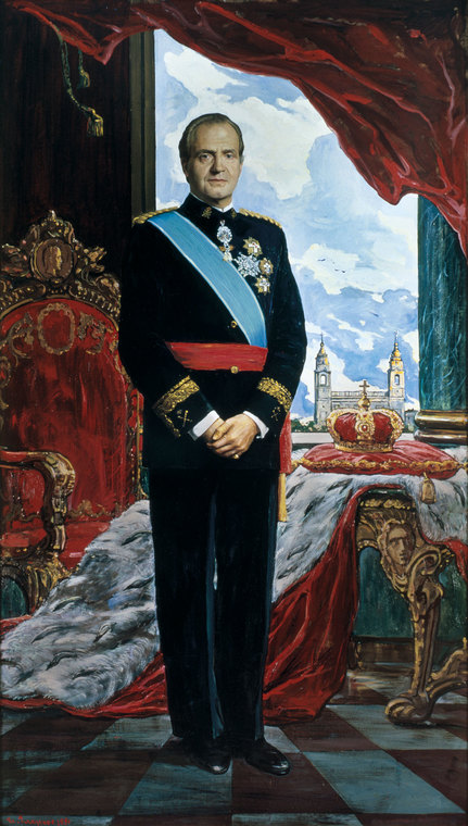 Portrait of the King of Spain Juan Carlos I