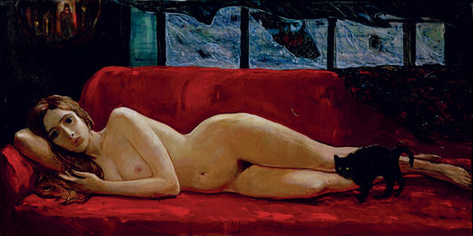 Nude on the Red Sofa