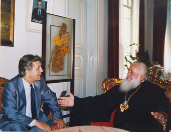 Ilya Glazunov and Metropolitan of Cyprus Chrysostomos. Cyprus