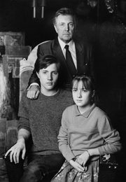 Ilya Glazunov with His Children Ivan and Vera