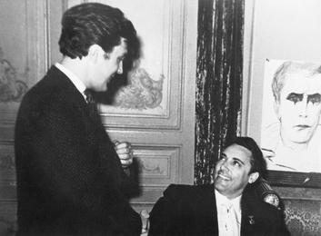 "Mario del Monaco and Ilya Glazunov while Working on Portraits of the Singer in the Hotel ""National"""