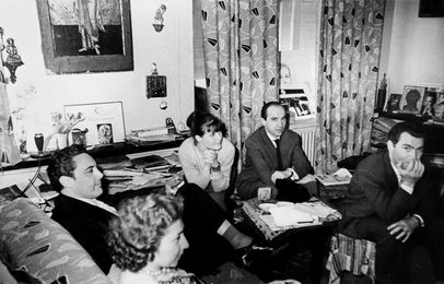 Mario del Monaco with His Wife, the Wife of I. Glazunov Nina, Polish Journalist H. Dudzik, Translator. Moscow