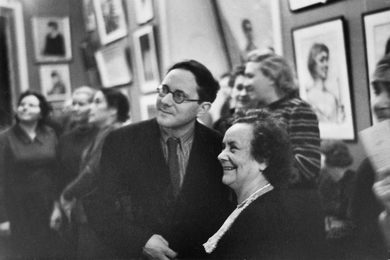 Audience at the First Exhibition of Ilya Glazunov, Which Expressed not Only World Fame, but Love of People. The Central House of Art Workers. Moscow