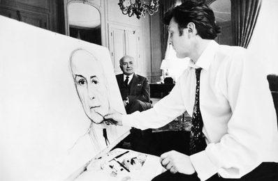 Илья Глазунов пишет портрет члена Кабинета министров Франции. Париж