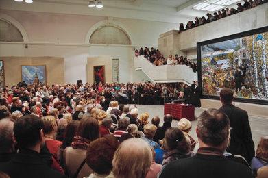 Персональная выставка Ильи Глазунова в Манеже. Санкт-Петербург