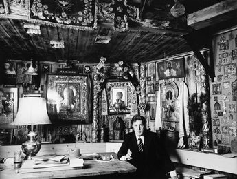 Ilya Glazunov in His Studio
