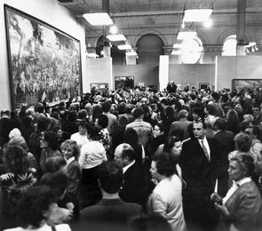Audience at the exhibition in the Palace of Youth