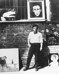 Ilya Glazunov near of His Picturies