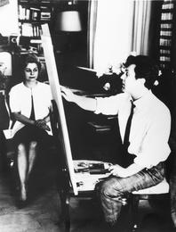Илья Глазунов и Джульетта Мазина после окончания работы на портретом. Рим. Италия