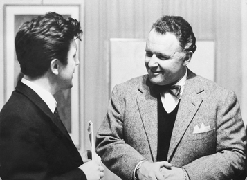 Ilya Glazunov and Famous American Actor Rod Steiger. Rome