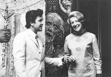 Илья Глазунов и французская писательница Люси Фор. Париж
